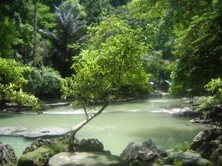 Aliran sungai Air Terjun Bantimurung